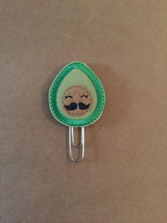 Avocado with face Clip/Planner Clip/Bookmark.