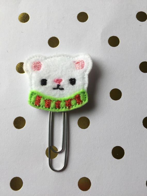 Winter Bear planner Clip/Planner Clip/Bookmark. Holiday Planner Clip. Winter planner clip. bear planner clip. Christmas planner clip