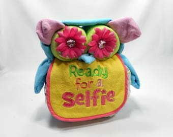 Ready To Ship - Owl Diaper Cake, Diaper Cake, Unique Baby Shower Gift, Owl Baby Shower - Baby Boy Gift