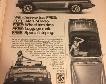 MG car add from Magazine