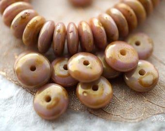 Cashmere Pink, Disc Beads, Czech Beads, Beads, N2221