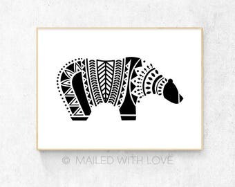 Scandinavian Style Bear - Digital Download