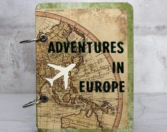 Personalized Journal - Travel Journal - Travel Scrapbook Album - Europe Travel Journal - Traveler Gift - Travel Gift Women - Gift For Her