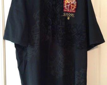 Coogi shirt , black , excellent short sleeve size XXXL
