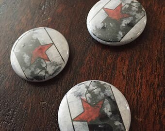 Bucky Barnes // Winter Soldier // Captain America // pin // marvel button // the winter soldier star
