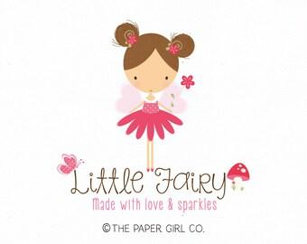 fairy logo design baby shop logo children's boutique logo premade logo photography logo party logo design bespoke logo design planner logo