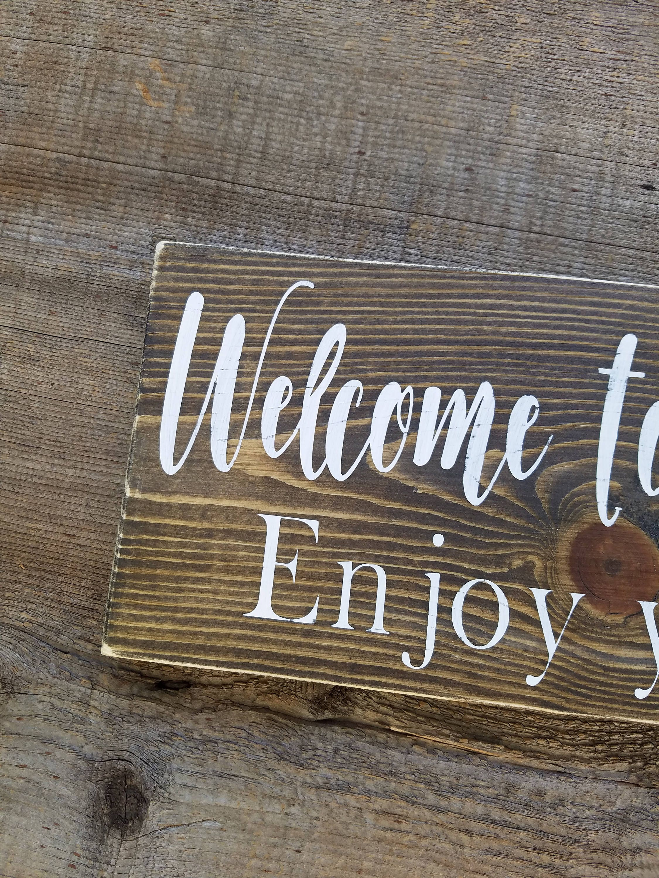 Welcome Sign, Vacation Home Signs, Home Signs, Airbnb, Airbnb