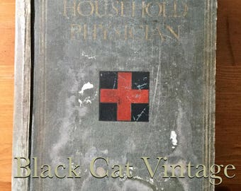 The Household Physician 1900's Volume 1 Antique vintage medical book Reference Drs GP Encyclopedia retro hardback