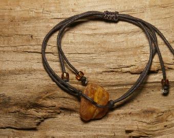 Natural amber A16, tiny bracelet adjustable cord