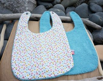 baby bib, boy bib, reversible bib, kids towel, bib Terry cotton bib