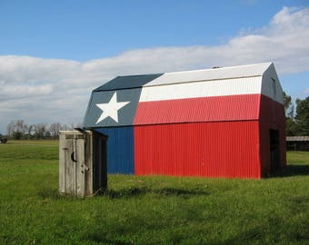 Texas Barn Outhouse Print, Instant Digital Download