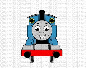 ON SALE Thomas the Tank Engine layered SVG Dxf and Png Files for Cutting Machines Silhouette, Cricut or Scan 'N' Cut