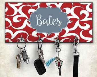 Key Hook, Personalized Key Holder, Wall Mount Key Hanger, Custom Key Hook, Monogram Key Holder, Housewarming Gift, Personalized Wedding Gift