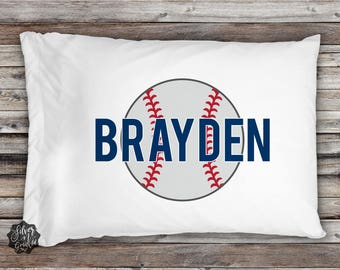 Baseball Pillowcase, Sports Pillowcase, Pillowcase, Sports Bedding, Baseball, Boys Pillowcase, Personalized Pillow, Toddler Pillowcase, Gift