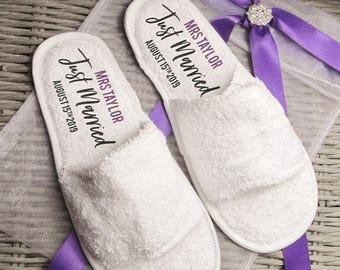 Personalised Wedding Slippers