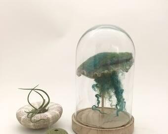 Jellyfish-light in a bell jar_ Petrol-silver