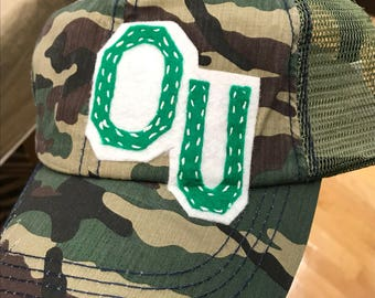Ohio University OU Bobcats themed Trucker Hat