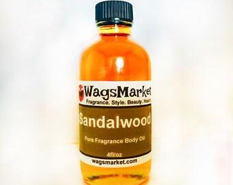 Sandalwood, 1oz Glass Bottle, Pure Fragrance Oil