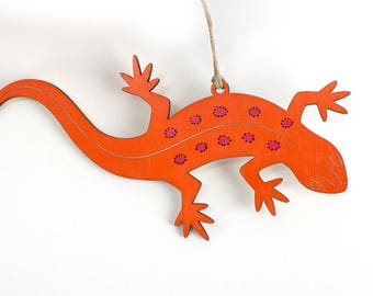 Newt Christmas Ornament (Eastern red-spotted newt, red eft)