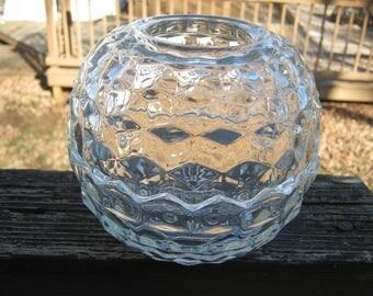Cubist 2 Piece Votive Holder, Clear Glass Candle Holder, 5 By 5 1/2 Inches Tall, Votive Candle Holder, Decorative Candle Holder, Home Decor