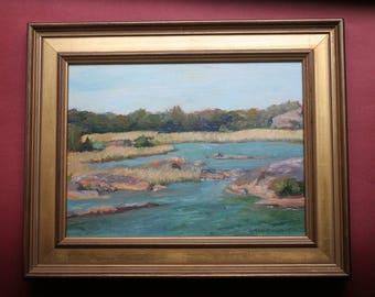 Calm Waters, Seascape, Original Oil Painting