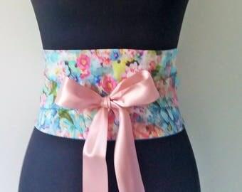 Sash flower waist belt Obi