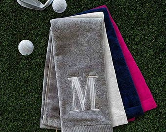 Embroidered Initial Golf Towel, Embroidered Golf Towel, Personalized Golf Towel