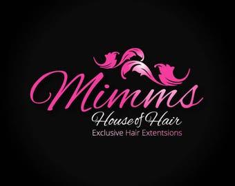 Hair extensions logo, Hair logo design, Hair logo design, Hair extensions logo design, Salon logo, Beauty logo, Hair business logo, logo