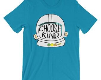 Choose Kind shirt Helmet tshirt - Short-Sleeve Unisex T-Shirt Teacher Gift Teacher Shirt Be Kind Shirt