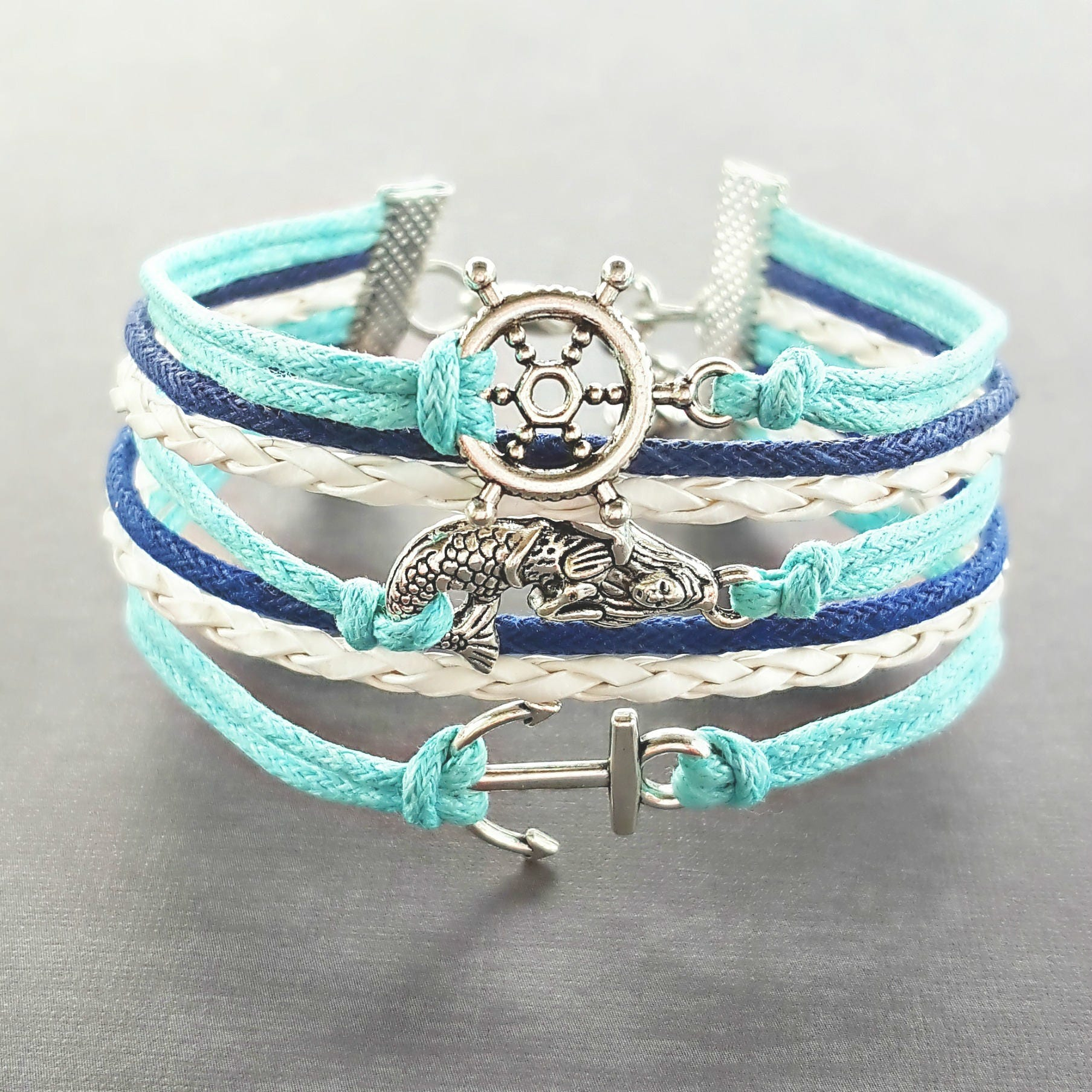 Mermaid Bracelet Anchor Bracelet Nautical Bracelet Mermaid