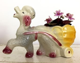Pair of Haughty 50's Poodle Planters or Vases