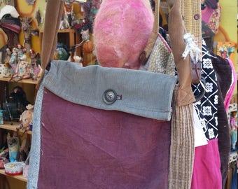 Messenger bag. Purse. Tote. Sac. Upcycled