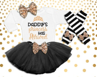 Baby Girl Coming Home Outfit Baby Shower Gift New Baby Gift Take Home Outfit Daddy's Princess Has Arrived Daddy's Girl Shirt Girl Hospital