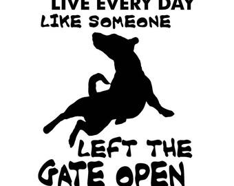 Live Life Jack Russell  Vinyl Sticker