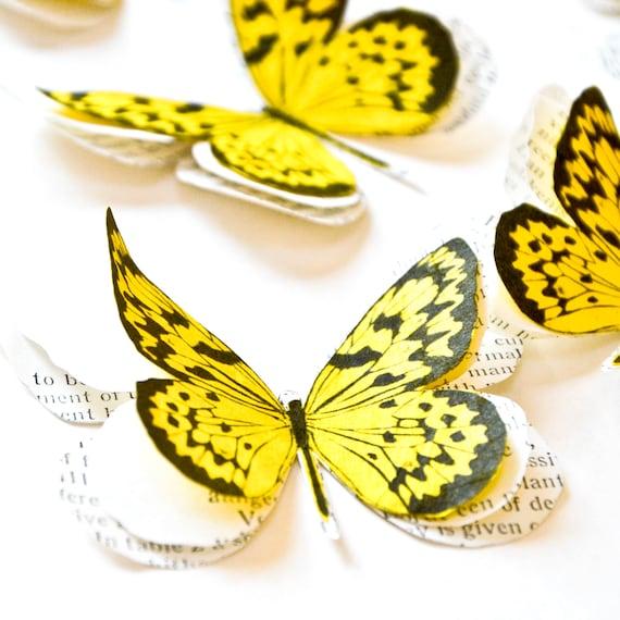 Nursery wall decals yellow butterflies 50th anniversary
