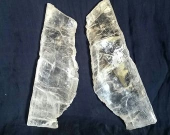White Selenite // TWIN FLAMES Crystals // Soulmates // Solar Eclipse Crystal // Twin Flame Lovers // Heart Chakra Balance / 11:11 Connection