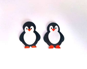 Applique Penguin STICKERS Moss set x 2 designs activities