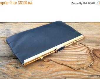 Sale Etra purse blue leather evening bag clutch 60s leather fashion accessory