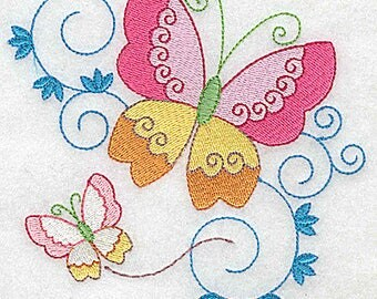 Butterflies and swirls | Machine Embroidery Design or Pattern