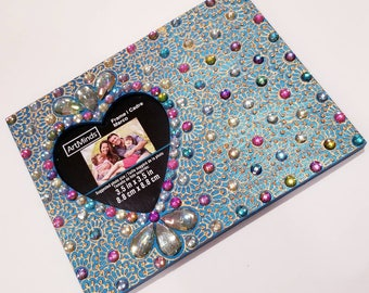 Teal and Multicolor Picture Frame