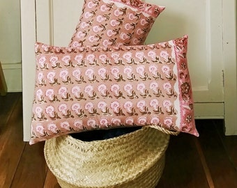 """Coussin Floral rose """"Gina"""""""