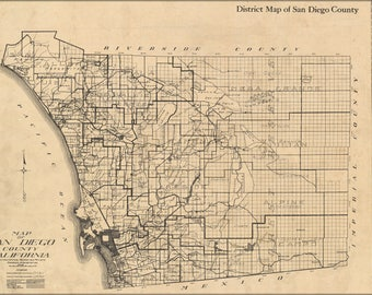 Poster, Many Sizes Available; Map Of San Diego County California 1911
