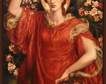 Poster, Many Sizes Available; A Vision Of Fiammetta By Dante Gabriel Rossetti