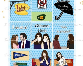 Gilmore Girls Planner Stickers