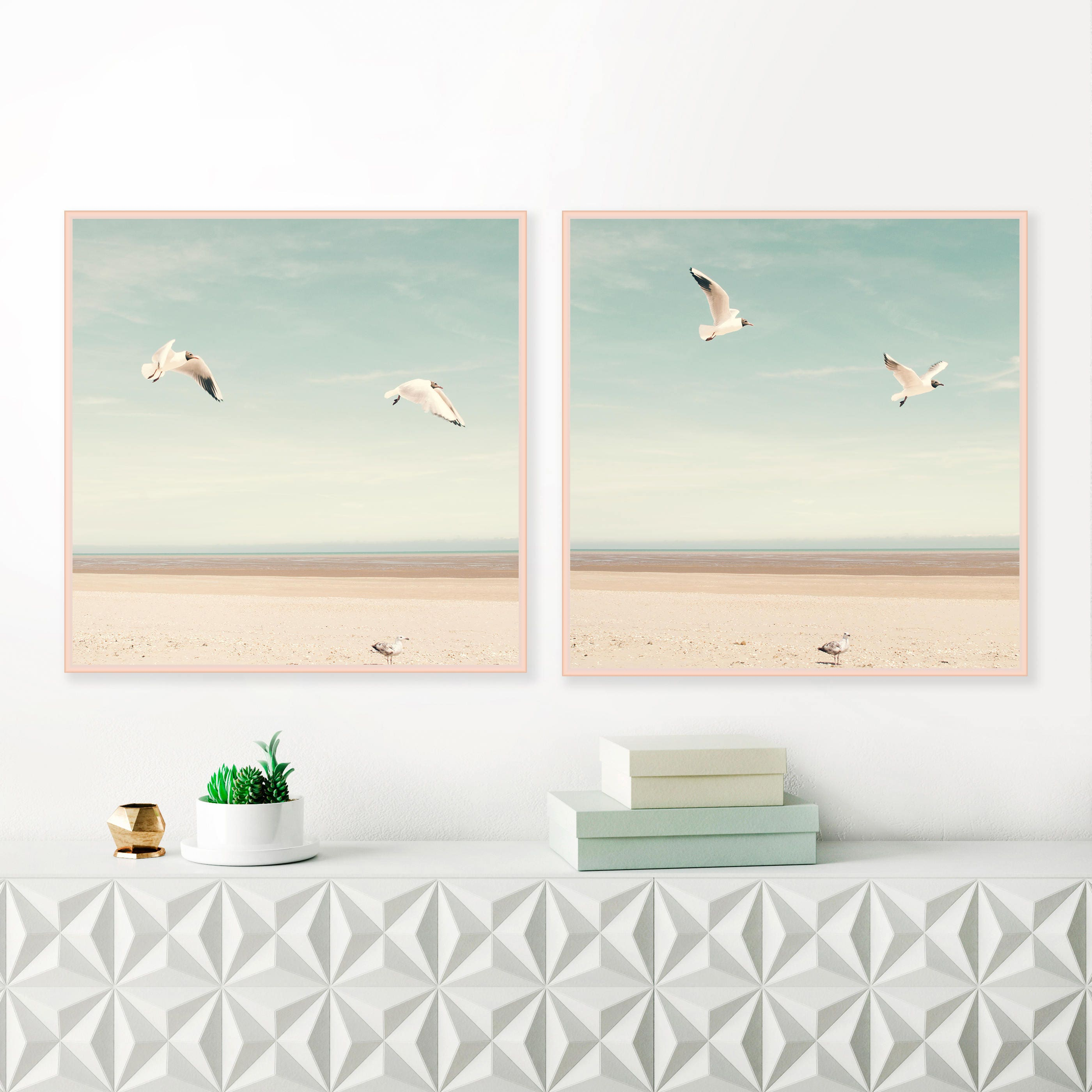 Bird Prints Beach graphy Beach Wall Art Dreamy Gull
