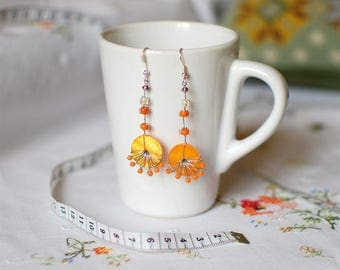 Orange Totem - earrings for women