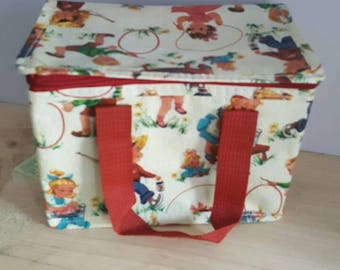 Vintage Inspired Lunch Insulated Lunch Bag