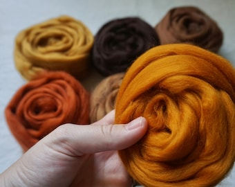 Autumn Merino Roving Bundle - 150g