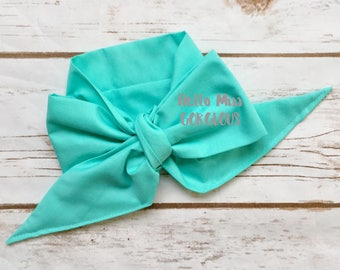 TURQUOISE Gorgeous Wrap- headwrap; fabric head wrap; blue head wrap; newborn headband; baby headband; toddler headband; baby headwrap