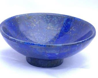 Lapis lazuli gemstone bowl